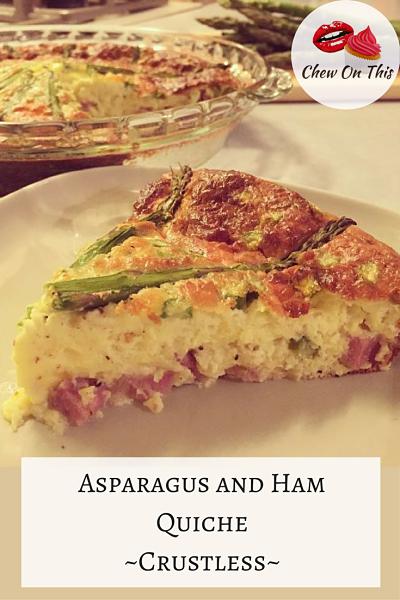 Asparagus and Ham Quiche