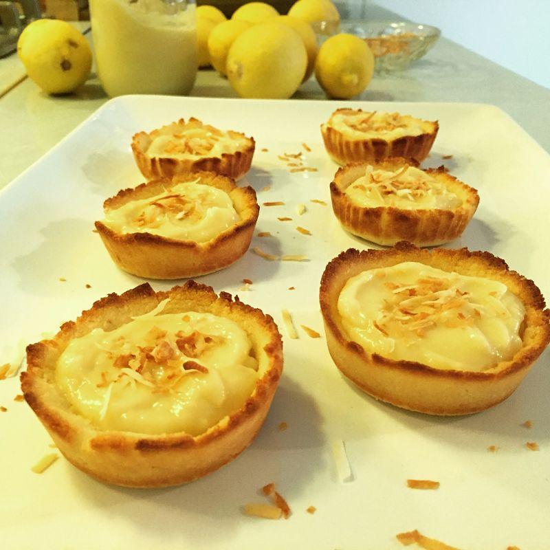 Paleo Coconut Lemon Tartlets