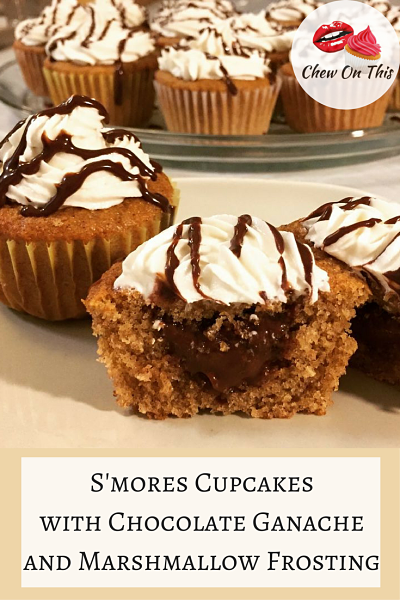 S'mores Cupcakes   Chocolate Filled Graham Cracker Cupcakes with Marshmallow Frosting
