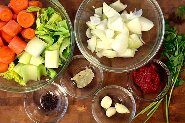 Vegetable Stock Ingredients