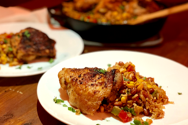 One Pan Fiesta Chicken and Rice