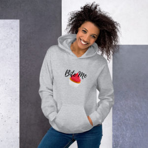 Women's Clothing | Hooded Sweatshirt - Bite Me
