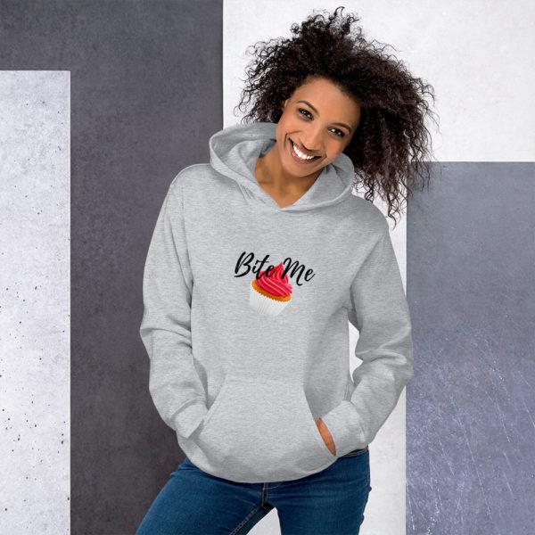 Women's Clothing | Hooded Sweatshirt - Bite Me
