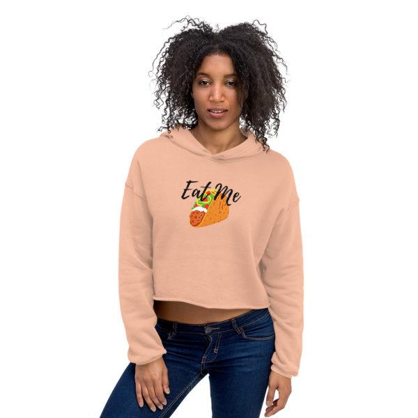 Women's Clothing   Crop Hoodie - Eat Me