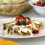 Green Chile Chicken Enchilada Casserole