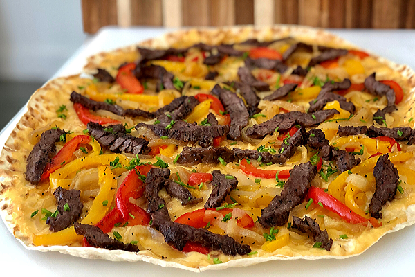 Cheesesteak Flatbread
