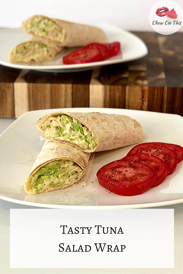 Tuna Salad Flatbread Wrap