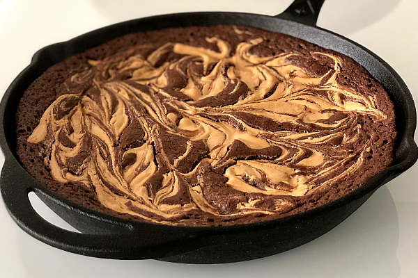 Peanut Butter Skillet Brownie