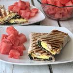 Spinach Feta Egg Wrap