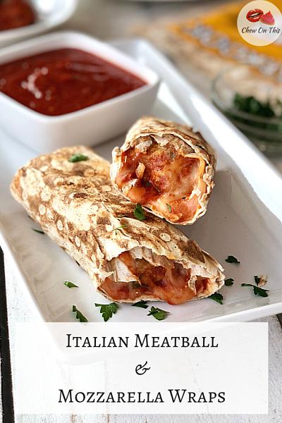 Meatball Mozzarella Wraps