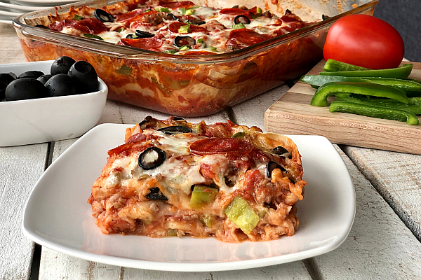 Flatbread Pizza Casserole
