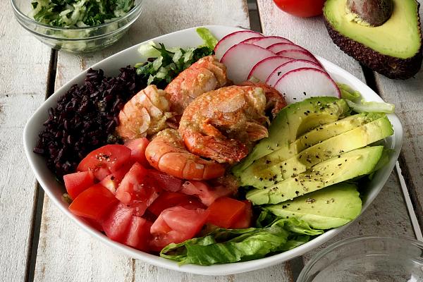 Spicy Spot Prawn Salad Bowl